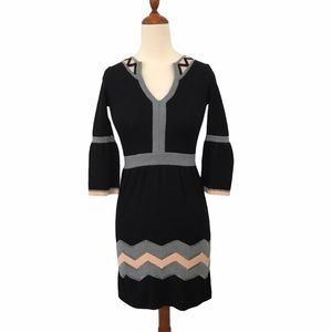 Vintage Milly Fit and Flare Wool Sweater Dress